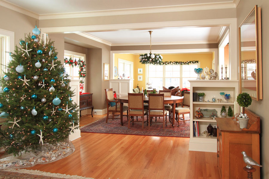 open plan christmas room design