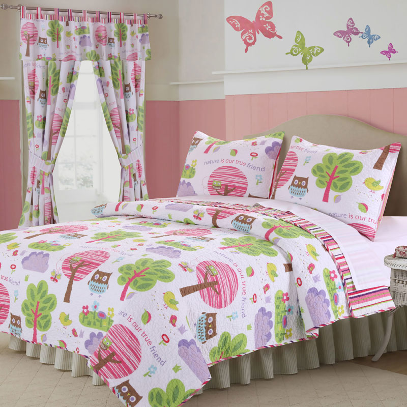 girl curtain panel