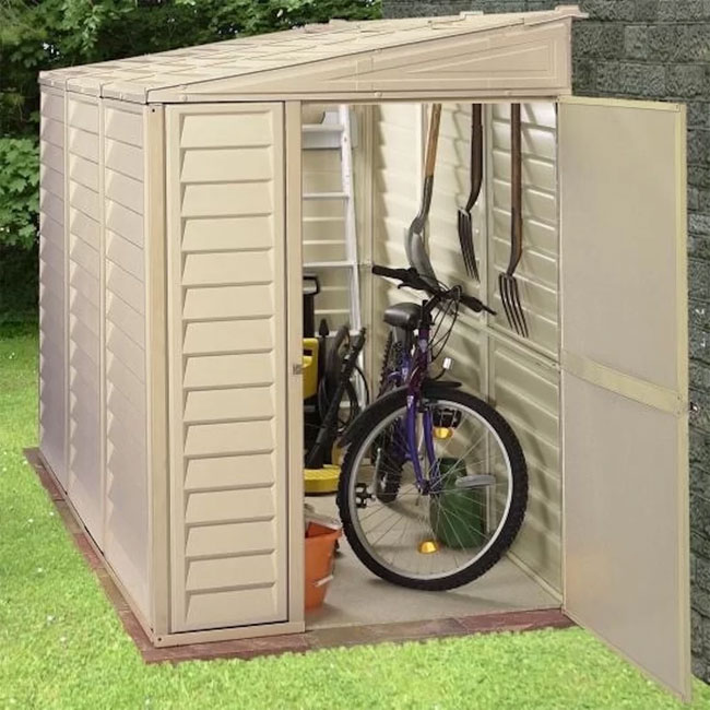 durable plastic outside bike storage
