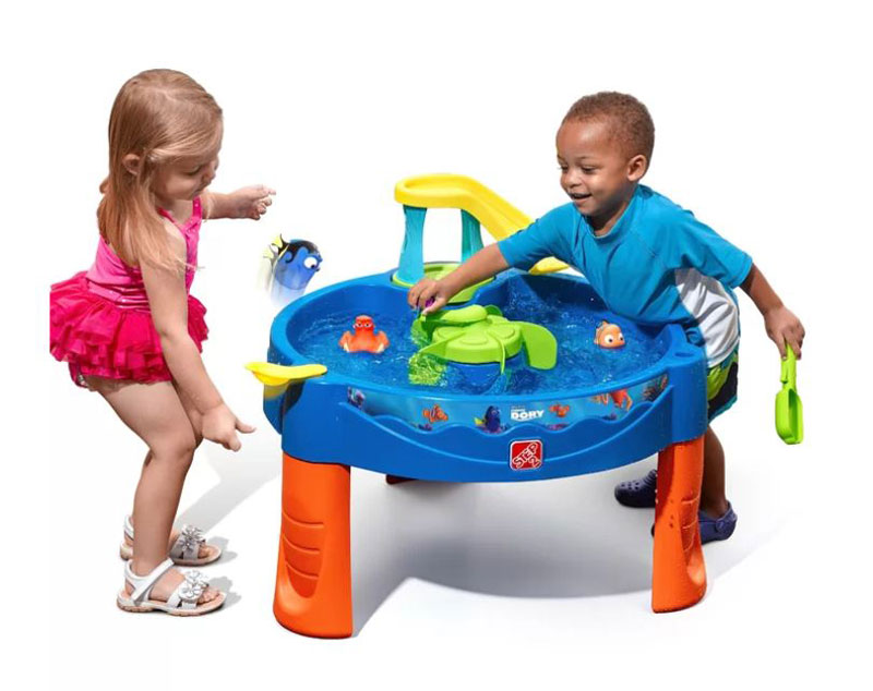 water table with water spinner