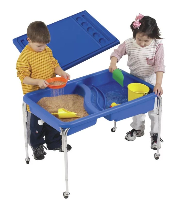 water sand table with cover