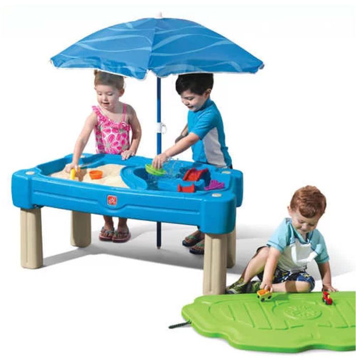 water table for kids with umbrella