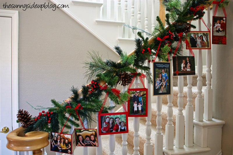 Greeting Cards, Pine Garlands, Photos And Different Paper Decorations Will  Be Suitable For Any Stairs. Take A Look And Get Inspired By Christmas Mood!