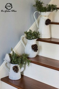 brilliant christmas stair decorations
