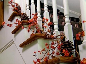 christmas decoration stairs