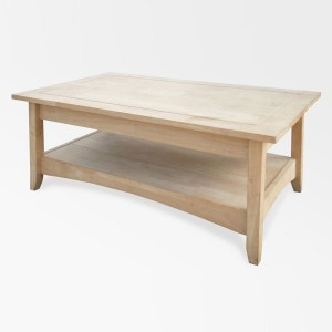 eco-friendly unfinished Para wood coffee table converts to desk