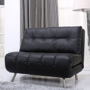 leather sofa bed black