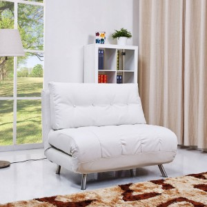 leather sofa bed white