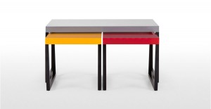 multi functional cofee table with two nesting side tables