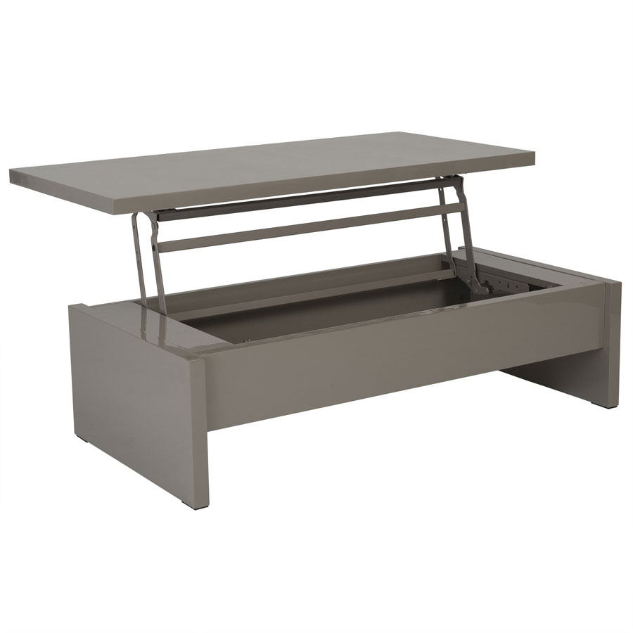 Modern Latte Coffee Table To Desk For Homes And Offices