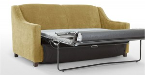 small sofa bed inspired by 1920s design
